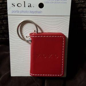 Sola photo keychain